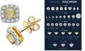 Macy's White & Yellow Diamond Stud Earrings (1-3/8 ct. t.w.) in 14k Gold