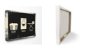 "Stupell Industries Sort Wash Fold Symbols Industrial Canvas Wall Art, 24"" x 30"""