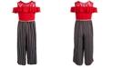 Beautees Big Girls Plus Size Cold-Shoulder Jumpsuit