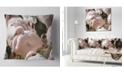 """Design Art Designart Pat Of Flamingos Close Up Abstract Throw Pillow - 16"""" X 16"""""""