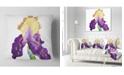 "Design Art Designart Blooming Blue Yellow Iris Floral Throw Pillow - 18"" X 18"""