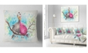 """Design Art Designart Two Birds In Love On Branch Abstract Throw Pillow - 18"""" X 18"""""""