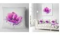 "Design Art Designart Purple Watercolor Poppy Flower Floral Throw Pillow - 16"" X 16"""