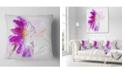 "Design Art Designart Purple Watercolor Gerbera Illustration Floral Throw Pillow - 18"" X 18"""