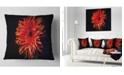 """Design Art Designart Spider Gerbera Daisy Watercolor Flowers Throw Pillowwork - 16"""" X 16"""""""