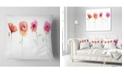 "Design Art Designart Watercolor Poppy Flowers Sketch Flower Throw Pillow - 16"" X 16"""