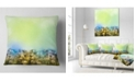 "Design Art Designart White Flowers Garden In Soft Color Floral Throw Pillow - 16"" X 16"""