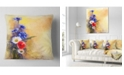 "Design Art Designart Bouquet Of Poppy Cornflower And Daisy Floral Throw Pillow - 18"" X 18"""