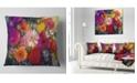 """Design Art Designart Bouquet Of Rose Daisy And Gerbera Floral Throw Pillow - 18"""" X 18"""""""