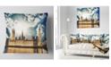 """Design Art Designart Big Ben Uk And House Of Parliament Throw Pillow - 16"""" X 16"""""""
