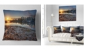"Design Art Designart Vancouver Downtown In Morning Landscape Printed Throw Pillow - 16"" X 16"""