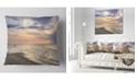 "Design Art Designart Calm Sunset In Thailand Beach Landscape Printed Throw Pillow - 16"" X 16"""