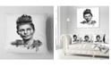 "Design Art Designart Double Exposure Woman With Hair Portrait Throw Pillow - 18"" X 18"""