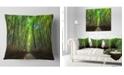 "Design Art Designart Road Through Dense Bamboo Groves Landscape Printed Throw Pillow - 16"" X 16"""