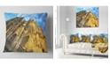 "Design Art Designart Facade Of Dom Church With Blue Sky Cityscape Art Throw Pillow - 16"" X 16"""