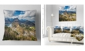 """Design Art Designart Alps And Lakes On Summer Day Landscape Printed Throw Pillow - 16"""" X 16"""""""