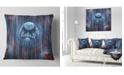 """Design Art Designart Blue World Of Infinite Universe Abstract Throw Pillow - 16"""" X 16"""""""