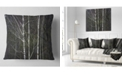 "Design Art Designart Black And White Birch Forest Abstract Throw Pillow - 18"" X 18"""