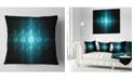 """Design Art Designart Blue Flash Of Light On Radar Abstract Throw Pillow - 16"""" X 16"""""""