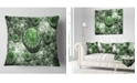 "Design Art Designart Exotic Green Fractal Landscape Abstract Throw Pillow - 18"" X 18"""
