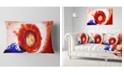 "Design Art Designart Beautiful Curlicue Of Paints Abstract Throw Pillow - 12"" X 20"""