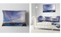 "Design Art Designart Stunning View Of Clear Lake Landscape Printed Throw Pillow - 12"" X 20"""