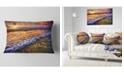 """Design Art Designart Beautiful Sunset With White Waters Seashore Throw Pillow - 12"""" X 20"""""""