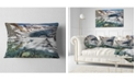 """Design Art Designart Cave In Rugged Rocky Setting Landscape Printed Throw Pillow - 12"""" X 20"""""""