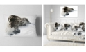 "Design Art Designart Stylish Woman And View Of Manarola Portrait Throw Pillow - 12"" X 20"""