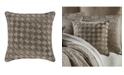 """J Queen New York Jqueen Cracked Ice  18"""" Square Decorative Throw Pillow"""