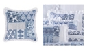"Royal Court Tessa Navy 16"" Square Decorative Throw Pillow"