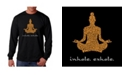LA Pop Art Men's Word Art Long Sleeve T-Shirt - Inhale Exhale