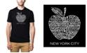 LA Pop Art Men's Premium Word Art T-Shirt - Neighborhoods in NYC