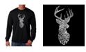 LA Pop Art Men's Word Art Long Sleeve T-Shirt- Types of Deer