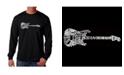 LA Pop Art Men's Word Art Long Sleeve T-Shirt - Rock Guitar