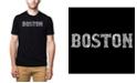 LA Pop Art Men's Premium Word Art T-Shirt - Boston Neighborhoods