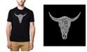 LA Pop Art Men's Premium Word Art T-Shirt - Cowskull Country Hits