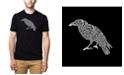 LA Pop Art Men's Premium Word Art T-Shirt - The Raven