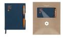 CARAN d'ACHE A6 Blue Notebook with Orange 849 Ballpoint Pen