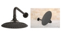 Kingston Brass Victorian 7-3/4-Inch OD Brass Shower Head with 12-Inch Shower Arm in Oil Rubbed Bronze
