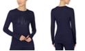 Lauren Ralph Lauren Logo Long Sleeve Pajama Top