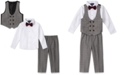 Nautica Baby Boys 4-Pc. Bowtie, Shirt, Double-Breasted Vest & Pants Set