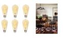 Westinghouse Lighting 4.5-Watt (40-Watt Equivalent) Amber ST20 Dimmable Filament LED Light Bulb, Medium Base 6 Pack