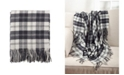 Saro Lifestyle Classic Plaid Pattern Tassel Throw