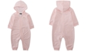 Nike Baby Girls Hooded Dot-Print Coverall