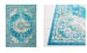 "Global Rug Designs Burst BUR02 Blue 7'10"" x 10'2"" Area Rug"