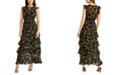 RACHEL Rachel Roy Issa Printed Ruffled Maxi Dress