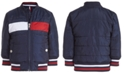 Tommy Hilfiger Baby Boys Eli Dark Blue Quilted Colorblocked Bomber Jacket