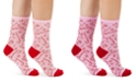 Charter Club Women's Candy Cane Crew Socks, Created For Macy's