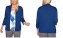 Alfred Dunner Sapphire Skies Diamond-Print Layered-Look Sweater